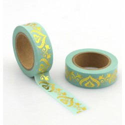 Masking Tape Foil Tape - arabesques or fond mint