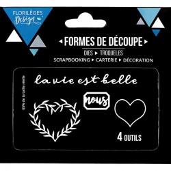 Die Florilèges Design - La vie est belle coeur