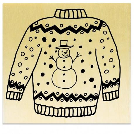Pull de Noël - Bonhomme de Neige