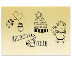 Bonnet Moufles Gants Chocolat Chaud