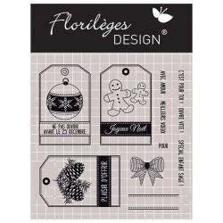 Tampon Clear Florilèges Design - Etiquettes de Noël - 11 motifs