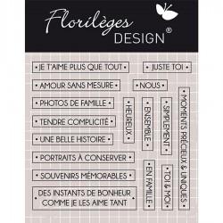 Tampon Clear Florilèges Design - Mots Précieux