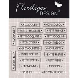 Tampon Clear Florilèges Design - Mots à Croquer