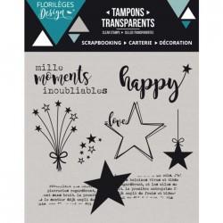 Tampon Clear Florilèges Design - Mille Moments