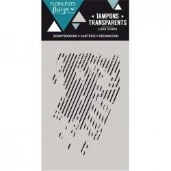 Tampon Clear Florilèges Design - Lignes Obliques