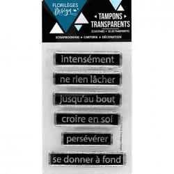 Tampon Clear Florilèges Design - Se donner à fond