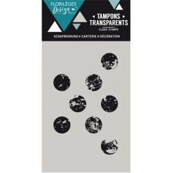 Tampon Clear Florilèges Design - Gros Pois