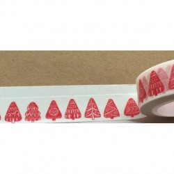 Masking Tape - sapins rouges