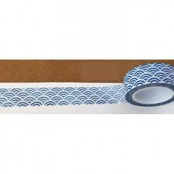Masking Tape - Vagues japonaises bleues