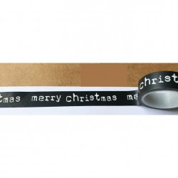 Masking Tape - merry christmas fond noir