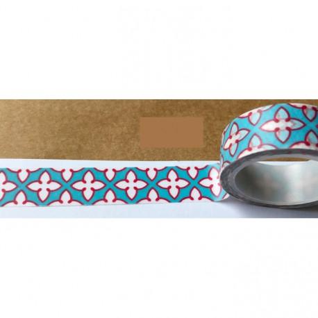 Masking Tape - motif rouge fond bleu