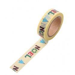 Masking Tape - NOEL fond vanille