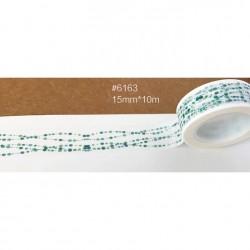 Masking Tape - Pointillés verts en guirlande