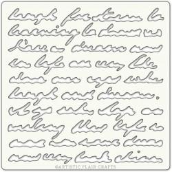 Pochoir 15 x 15 cm - Script Ecritures