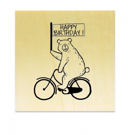 Happy Birthday Ours Vélo