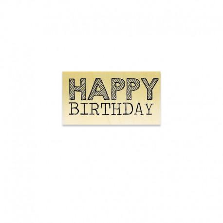 Rubber stamp - Gwen Scrap - HAppy Birthday