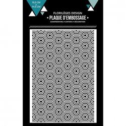 Plaque d'embossage Hexagones imbriqués - 10,5 x 14,5 cm
