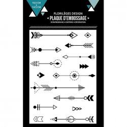 Plaque d'embossage Des flèches - 10,5 x 14,5 cm
