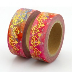 Masking Tape Foil Tape - Diamants Or fond tons rose