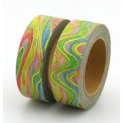 Masking Tape Foil Tape - Ondes or et coloré