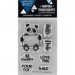 Tampon Clear Florilèges Design - Pandadorable