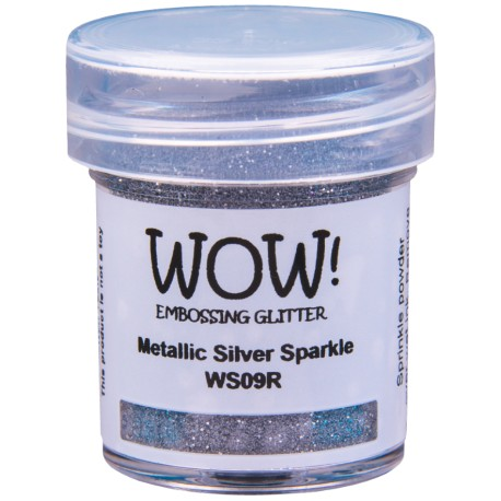 Poudre à embosser Wow - Metallic Silver Sparkle (Argent Paillettes)
