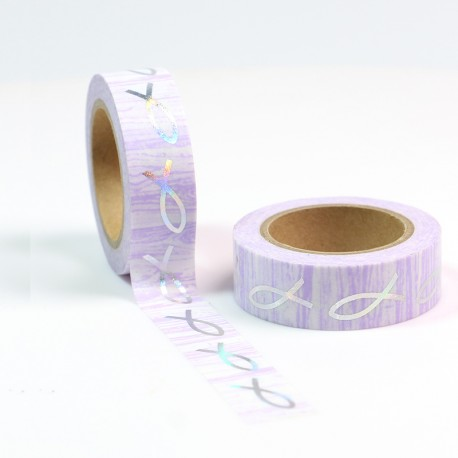 Solo Foil Tape - Navy deer on copper background