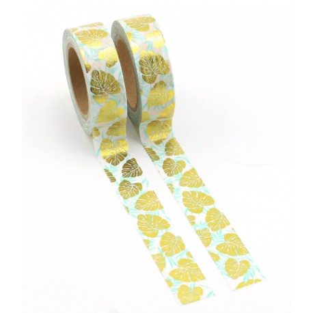 Masking Tape Foil Tape - Feuilles Or et Mint