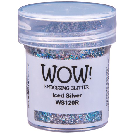 Poudre à embosser Wow - Iced Silver (paillettes)