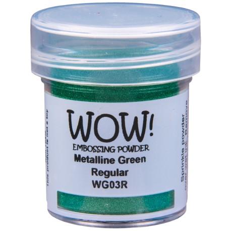 Poudre à embosser Wow - Green Metalline vert