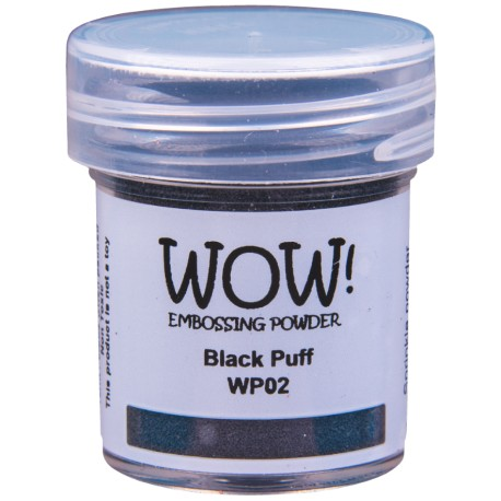 Poudre à embosser Wow - Black Puff Ultra High