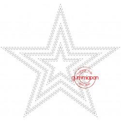 Die Gummiapan - 3 étoiles couture