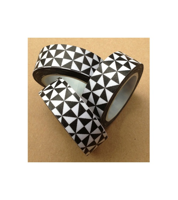 Solo masking tape -  Triangles -  noir & blanc