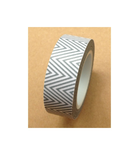 Solo masking tape - Zig-Zag fins Gris Clair