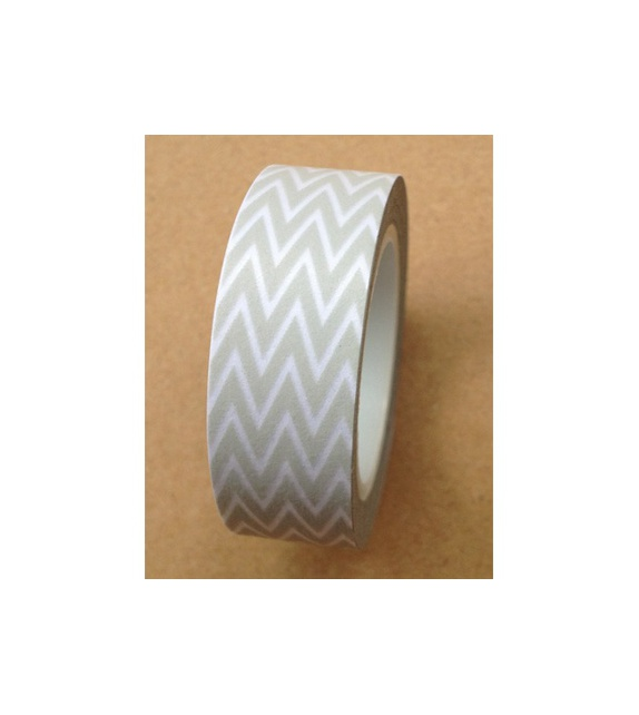 Masking tape - Petits Chevrons Gris perle