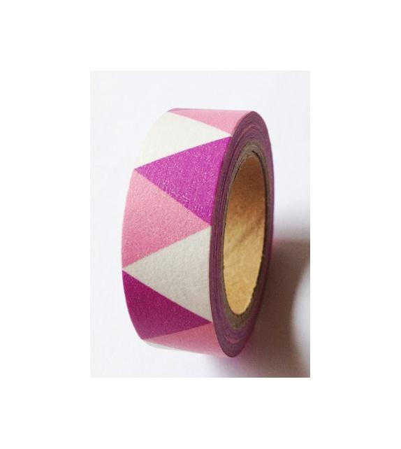 Masking tape - Triangles Fanions Rose & Mauve