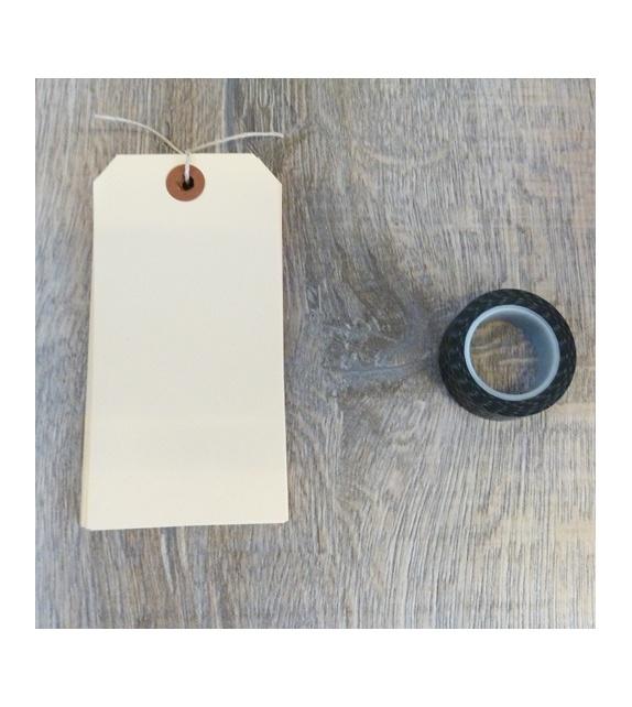 Tags Vanille avec oeillet kraft - L+ (134 x 67 mm) (set de 10)
