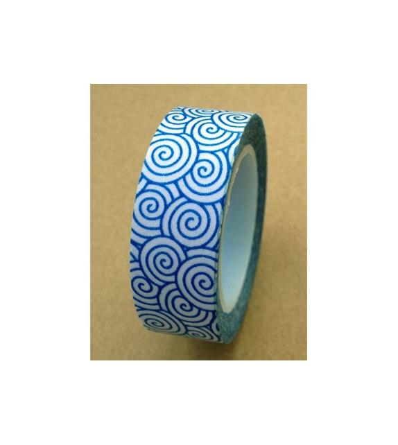Masking tape - Spirales Bleues