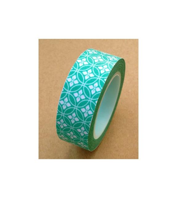 Masking tape - Mosaique bleu vert