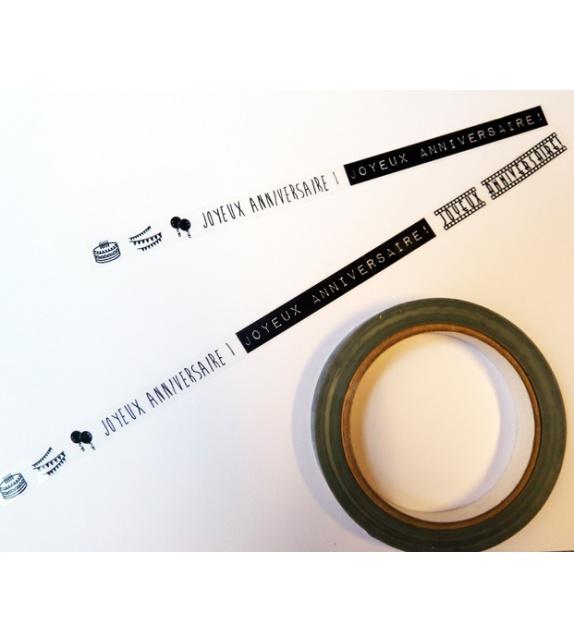 Clear Design Tape - Joyeux Anniversaire !