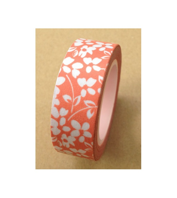 Masking tape - Fleurettes corail