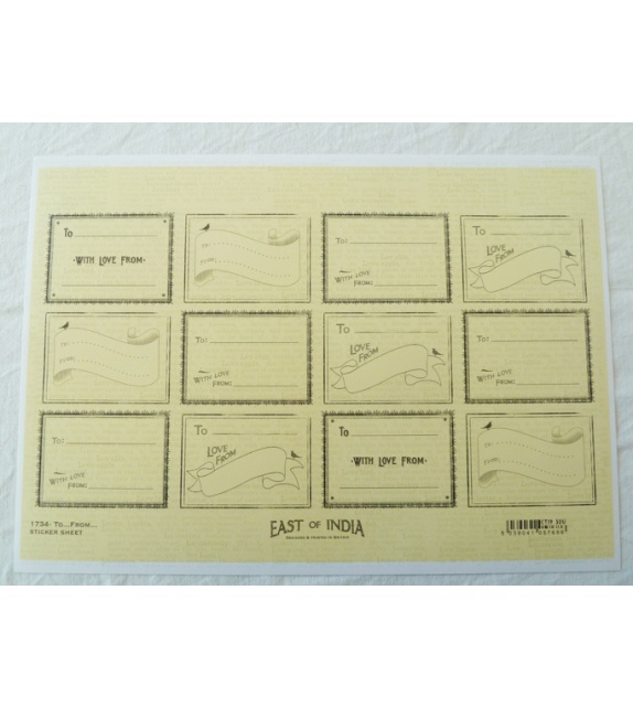 Stickers - Coeurs Hirondelles (planche de 35 stickers)