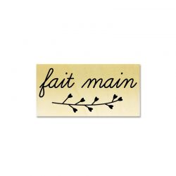 Rubber stamp - Fait main branch
