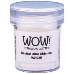 Poudre à embosser Wow - Neutral Ultra Shimmer (Transparent Paillettes)