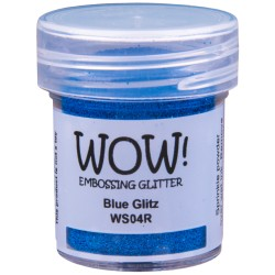 Poudre à embosser Wow - Blue Glitz (paillettes)